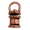 Revolving End Cap - Rope 14mm 4mm Hole Antique Copper